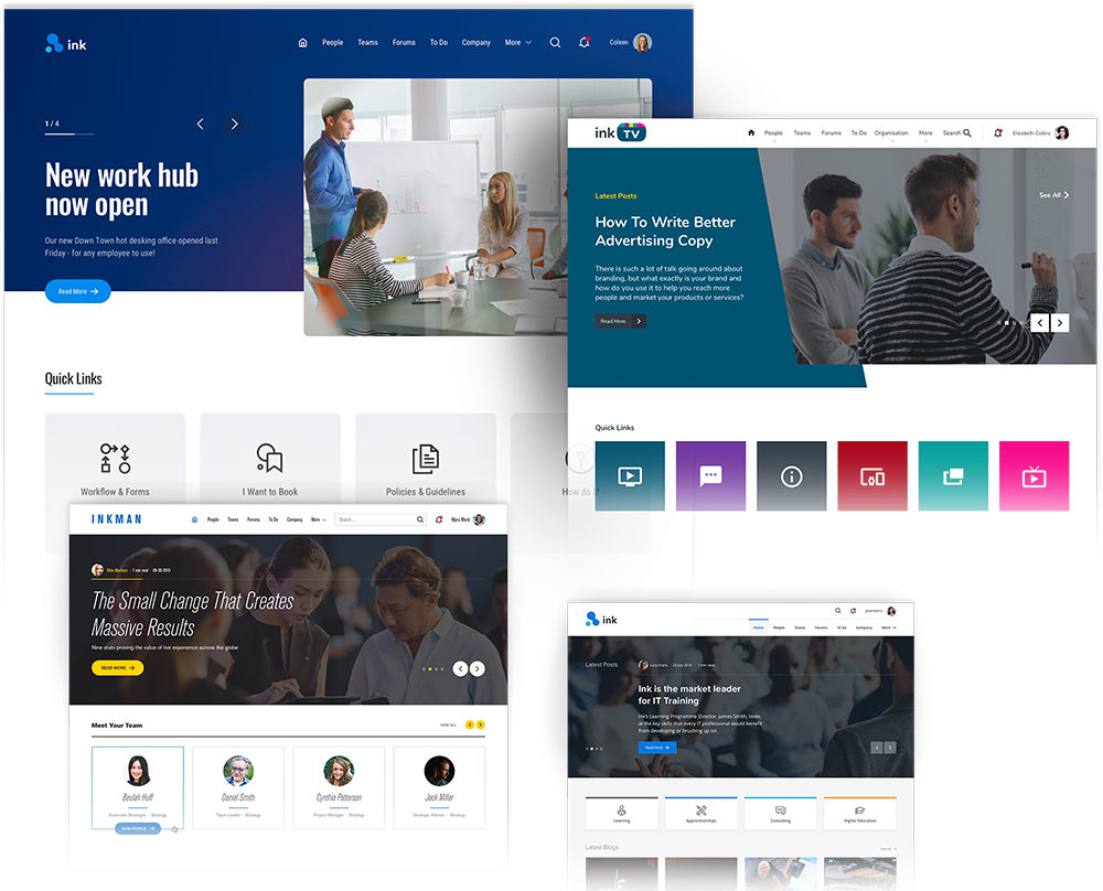 Example Homepage Designs