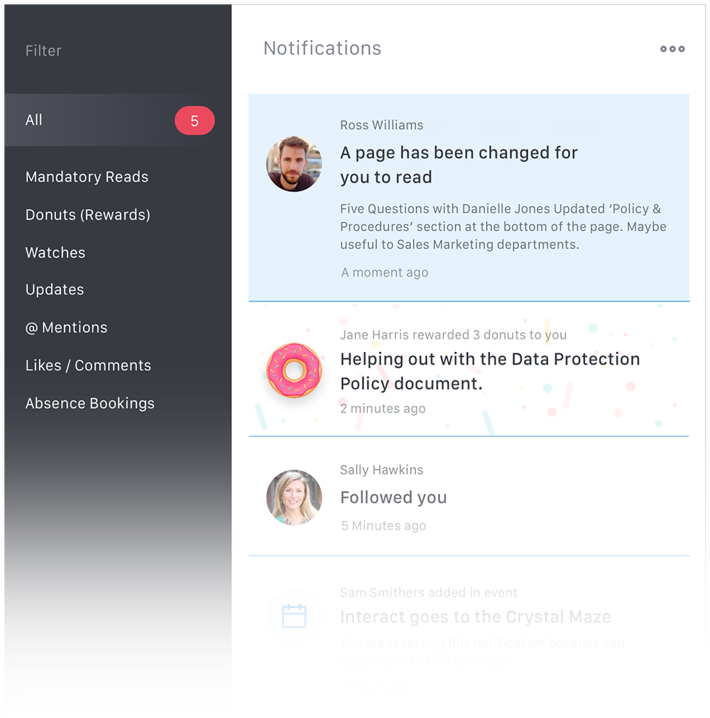 Subscription Web Notification screenshot.