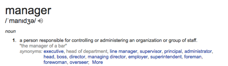 impact of managers definition