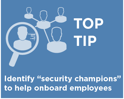 identify security champions in your organization